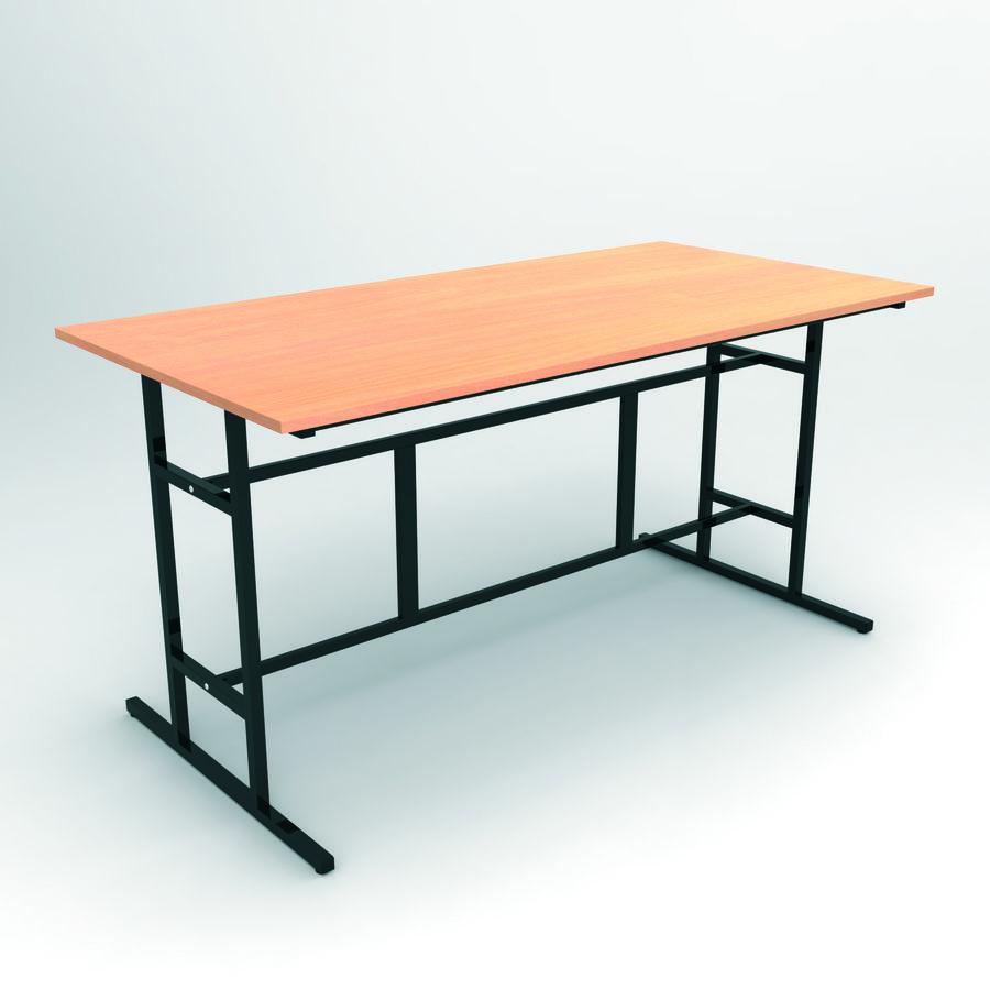 Table d 39 atelier 200 x 100 cm hauteur 85 cm plateau for Table cuisine hauteur 85 cm