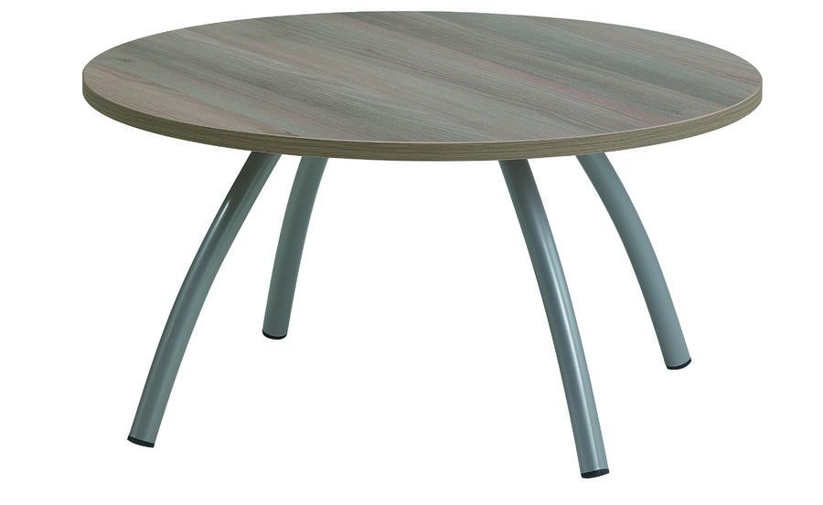 table basse ronde surf m lamin pi tement gris alu. Black Bedroom Furniture Sets. Home Design Ideas
