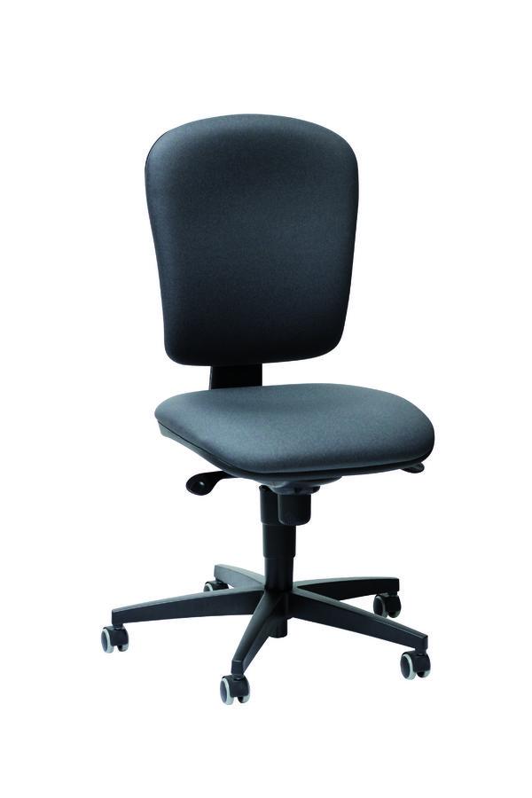 Chaise de bureau jump textile enduit anthracite roulette for Mobilier bureau 974