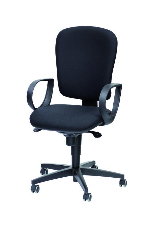 Fauteuil de bureau jump tissu noir roulette sol dur for Roulette fauteuil de bureau