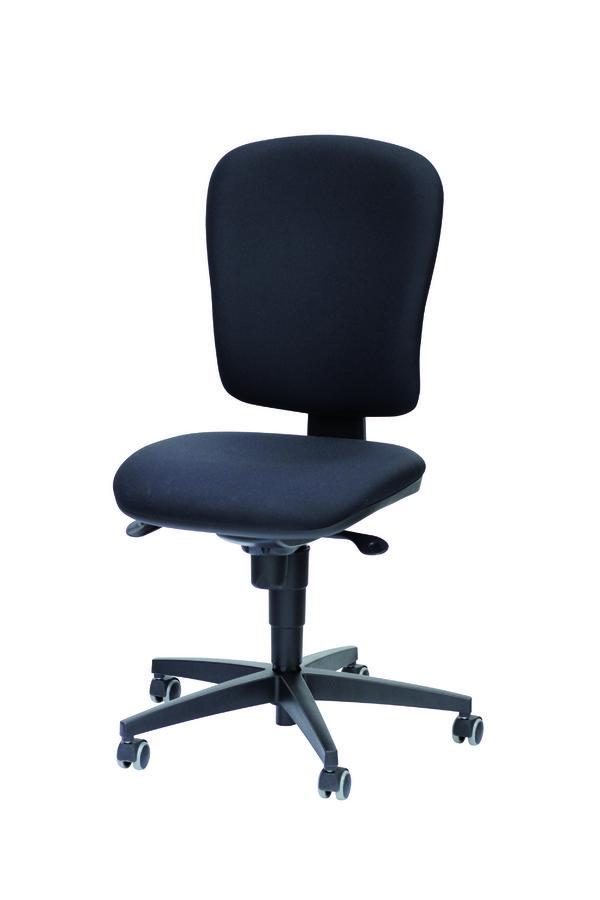 Chaise de bureau jump tissu noir roulette sol dur for Chaise noire tissu