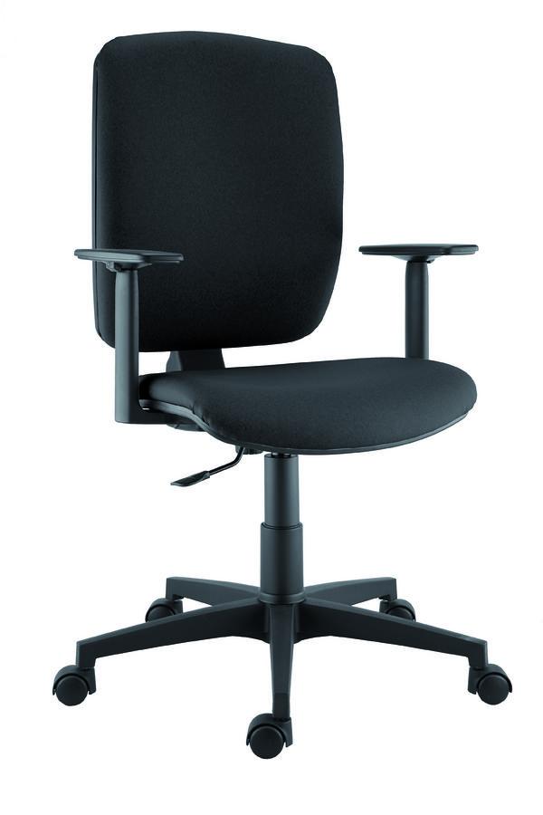 fauteuil de bureau klimo textile enduit. Black Bedroom Furniture Sets. Home Design Ideas