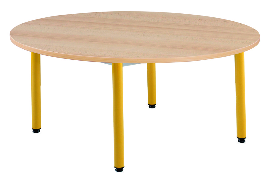 Table ronde n mo 120 pi tement fixe 4 pieds t2 for Pietement table ronde
