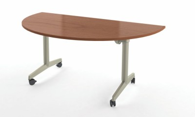 Twin Lune Fliptop Demi Piétement Mobile Table 180x90 Pliante NnmPv80Oyw
