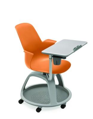 fauteuil mobile node polypropyl ne avec tablette de travail et porte gobelet. Black Bedroom Furniture Sets. Home Design Ideas