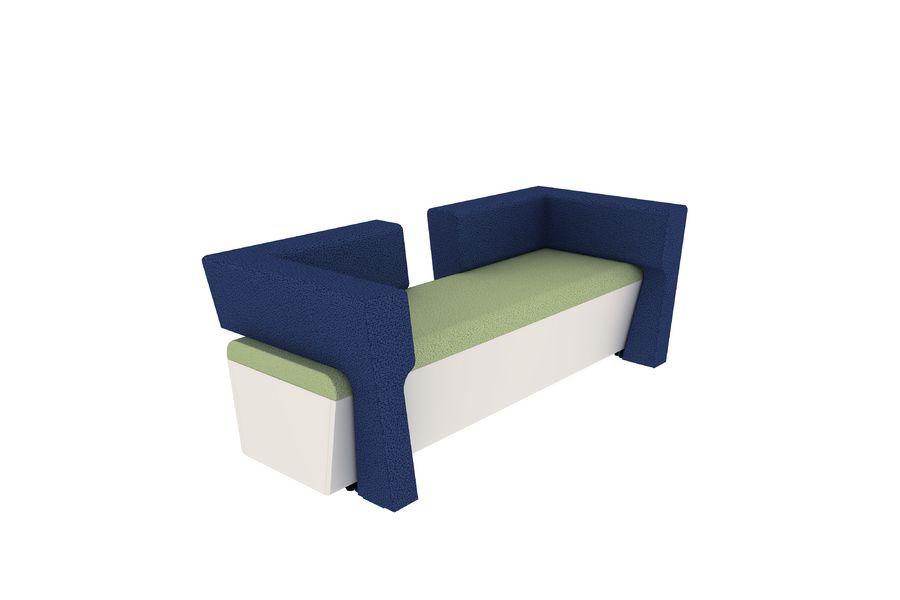 banquette 2 places avec 2 dossiers et 2 accoudoirs ltb tissu 180x50. Black Bedroom Furniture Sets. Home Design Ideas