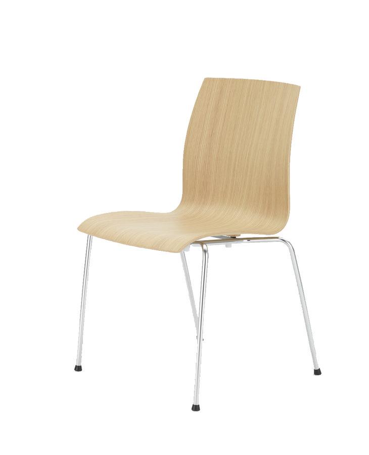 Chaise 4 pieds trio evolution coque h tre naturel ou teint pi tement chrome for Evolution de la chaise