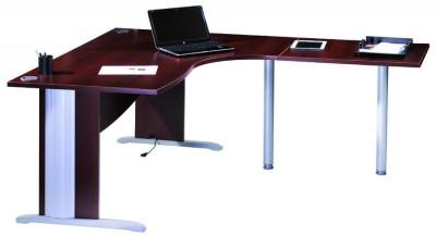 Bureau compact 90 asym trique majesty 160x120x80x60 for Bureau 80x60