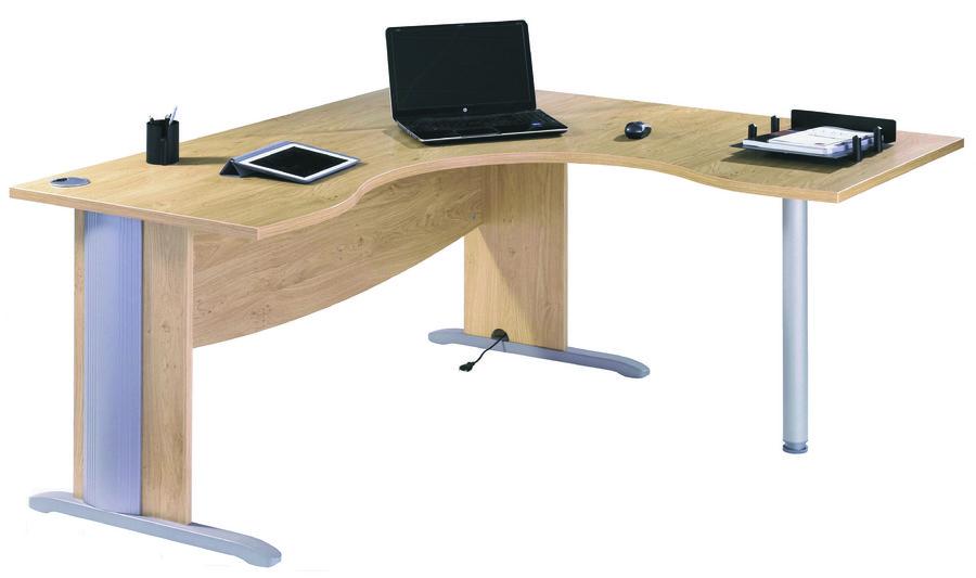 Bureau compact 90 asym trique majesty 160x120x80x60 for Bureau 120x60