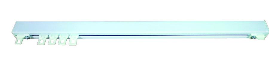 tringle rail chemin de fer chromalu laqu blanc l 350 cm. Black Bedroom Furniture Sets. Home Design Ideas