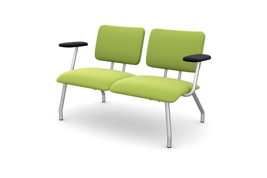 banquette 2 places avec accoudoirs ama a tissu. Black Bedroom Furniture Sets. Home Design Ideas