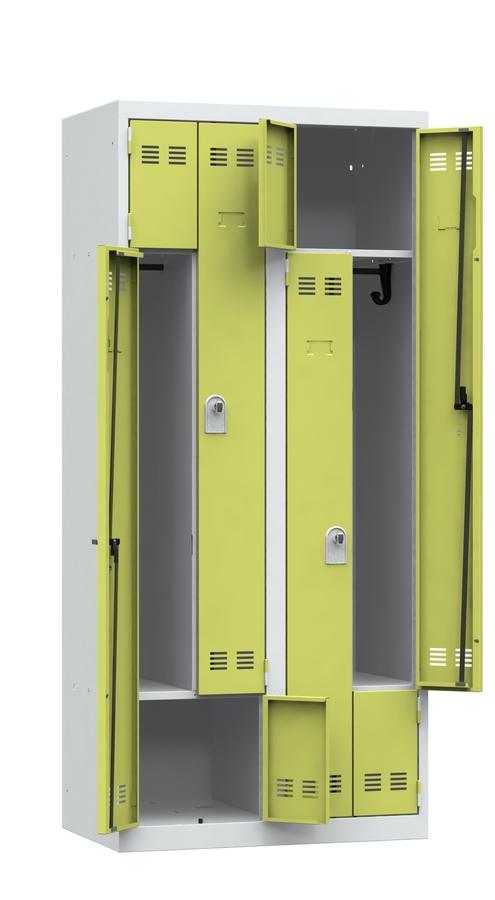 vestiaire gain de place 2 colonnes serrure ou moraillon l. Black Bedroom Furniture Sets. Home Design Ideas