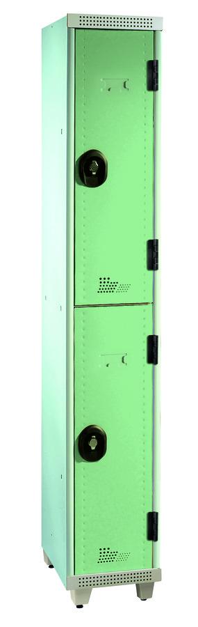 vestiaire non visitable 1 colonne 2 casiers galvanis sur pieds l 30 cm serrure ou moraillon. Black Bedroom Furniture Sets. Home Design Ideas