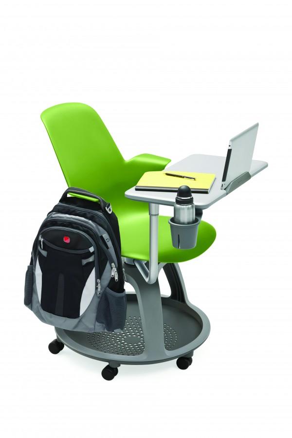 fauteuil mobile node polypropyl ne avec tablette de travail support tablette tactile et. Black Bedroom Furniture Sets. Home Design Ideas