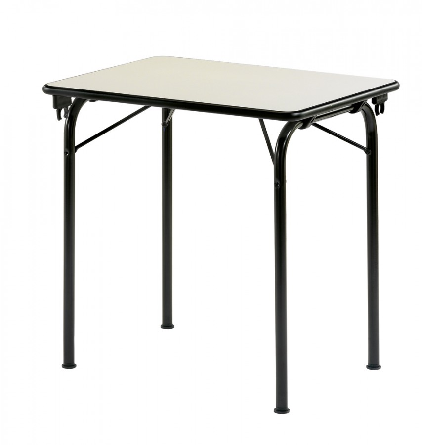 Table pliante n va 80 x 60 cm plateau gris nimbus pi tement noir p kin for Pietement de table pliante