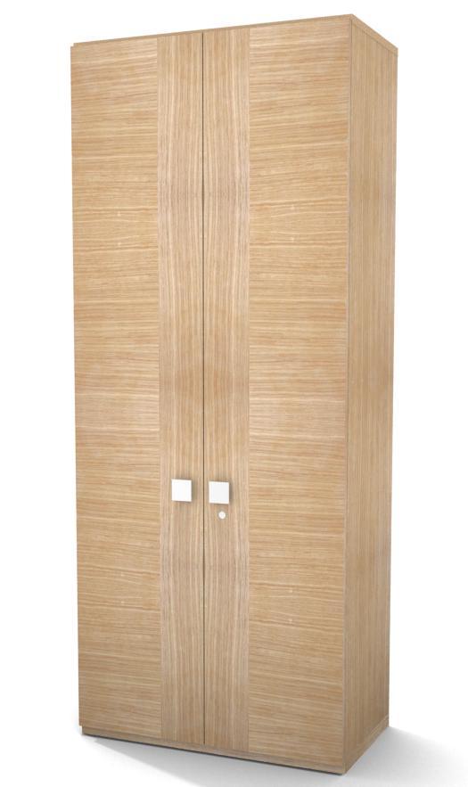 armoire placage bois mail 196x80 4 tablettes m tal portes battantes. Black Bedroom Furniture Sets. Home Design Ideas