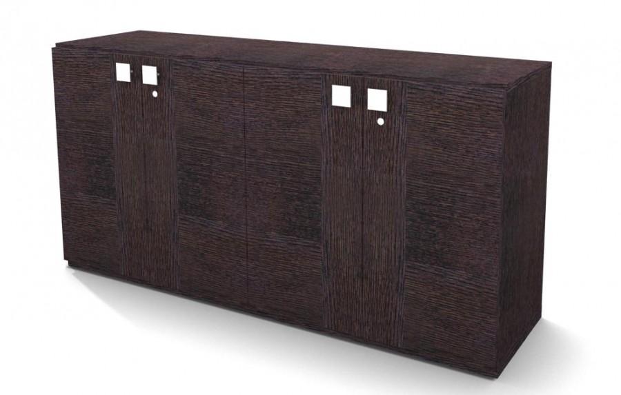 armoire placage bois mail 81x160 2 tablettes m tal 4 portes battantes. Black Bedroom Furniture Sets. Home Design Ideas