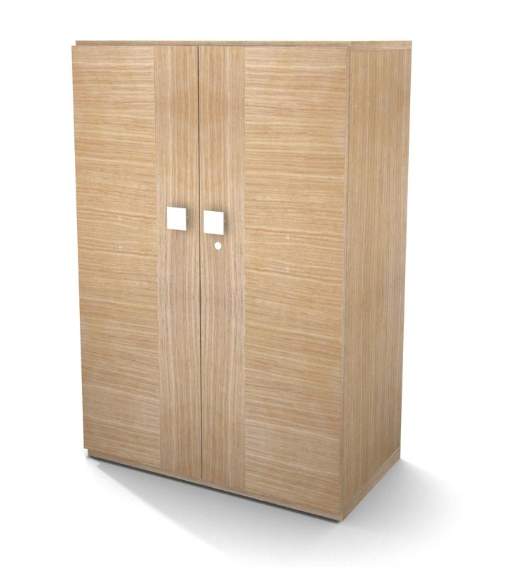 armoire placage bois mail 120x80 2 tablettes m tal portes battantes. Black Bedroom Furniture Sets. Home Design Ideas