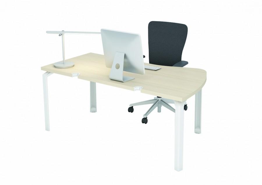 bureau ergonomique ventail epure 180x98x80 avec. Black Bedroom Furniture Sets. Home Design Ideas
