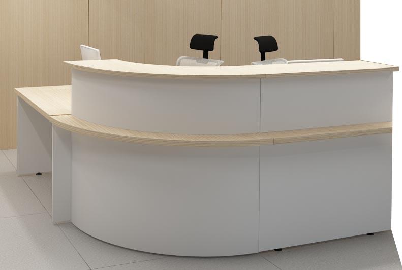 banque d 39 accueil en l epure 265x205 angle droite c t. Black Bedroom Furniture Sets. Home Design Ideas