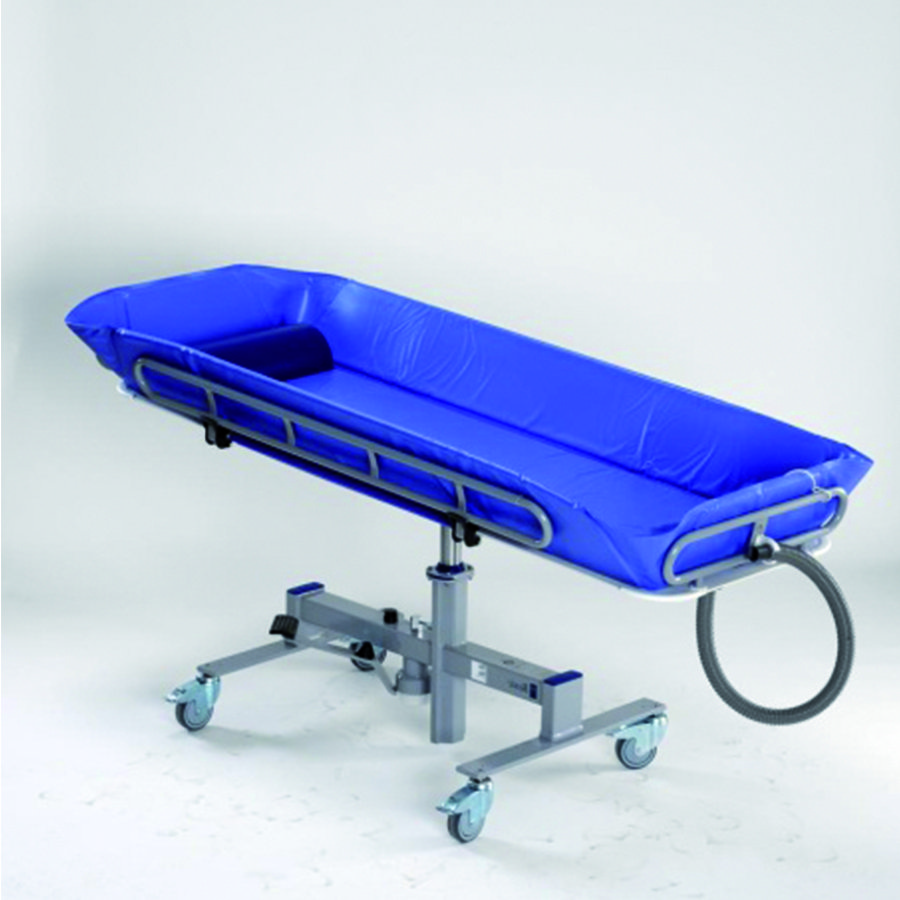 chariot douche basic hydraulique 1900mm matelas bleu 1 oreiller. Black Bedroom Furniture Sets. Home Design Ideas