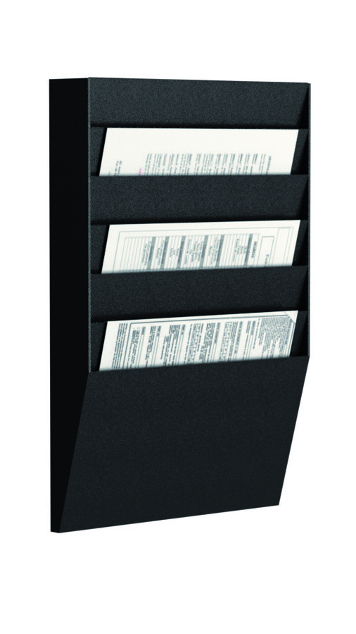 trieur mural horizontal 6 cases a4 noir. Black Bedroom Furniture Sets. Home Design Ideas