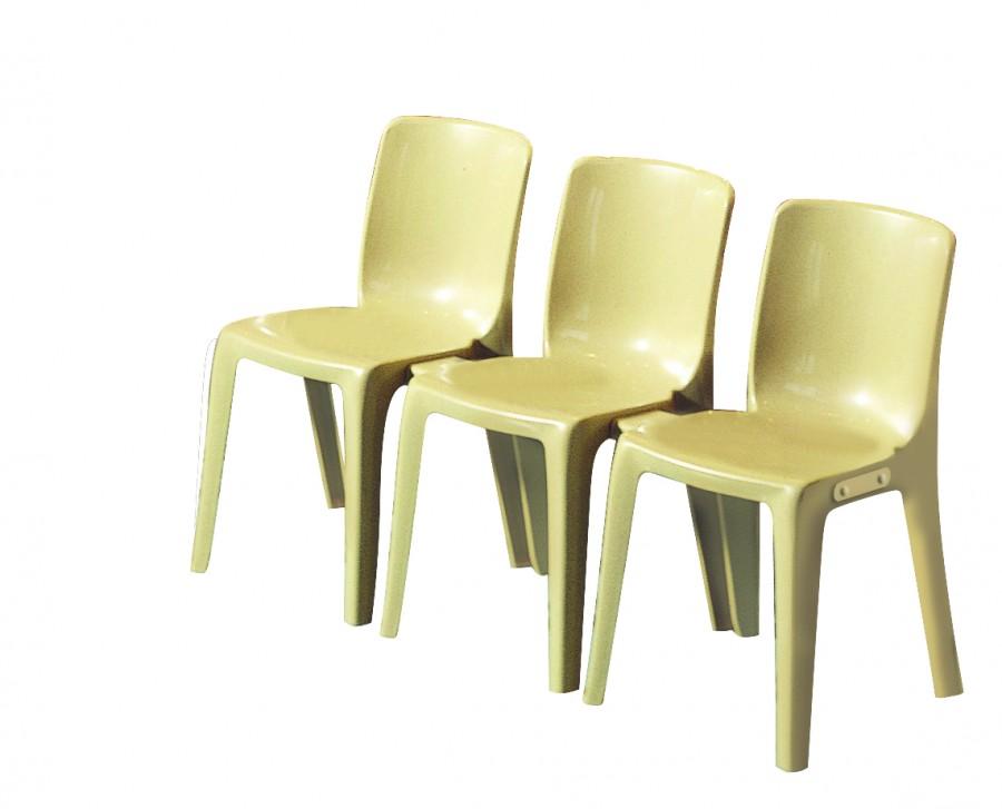 chaise 4 pieds denver monobloc polypropyl ne empilable