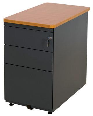 Caisson hauteur bureau corial 2 tiroirs plats et 1 for Bureau 50 cm profondeur