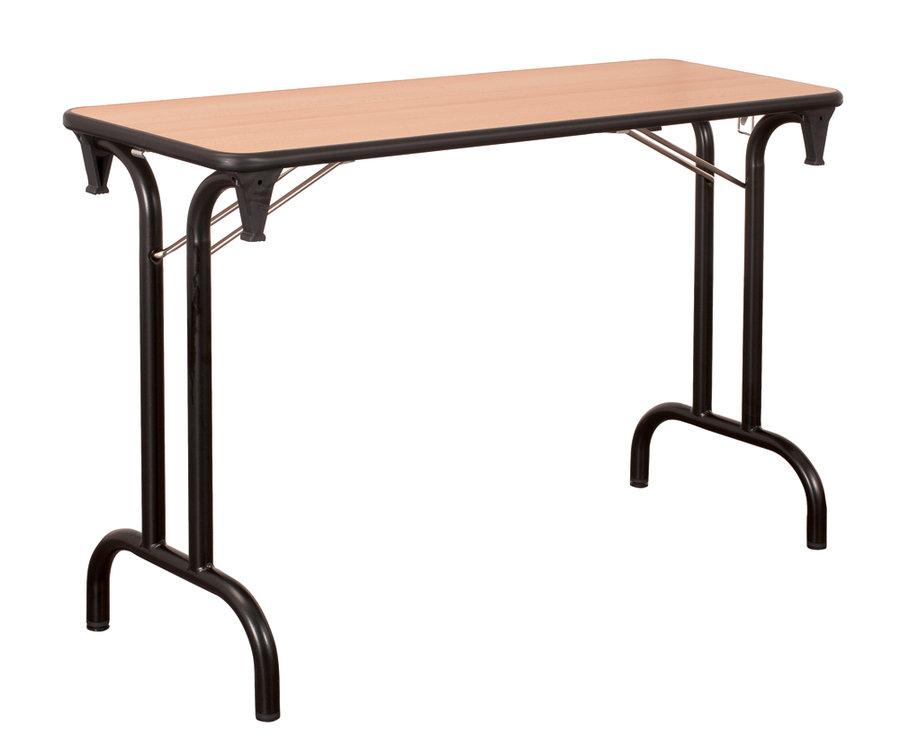 table pliante dune 120x40 pi tement noir plateau h tre. Black Bedroom Furniture Sets. Home Design Ideas