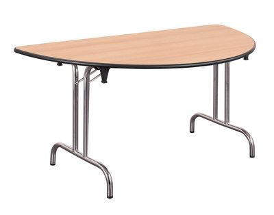 table pliante demi lune dune l 160 pi tement chrome. Black Bedroom Furniture Sets. Home Design Ideas