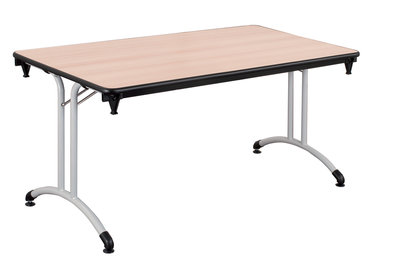 table pliante plume 160 x 80 pi tement poxy plateau all g. Black Bedroom Furniture Sets. Home Design Ideas