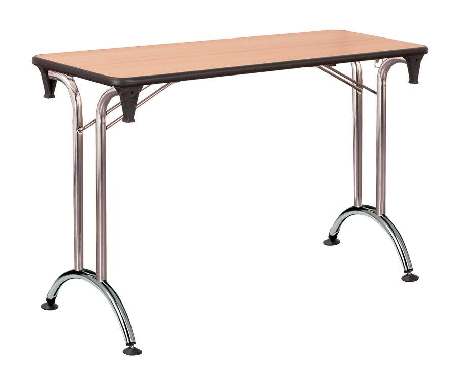table pliante plume 120 x 40 pi tement chrome plateau all g. Black Bedroom Furniture Sets. Home Design Ideas