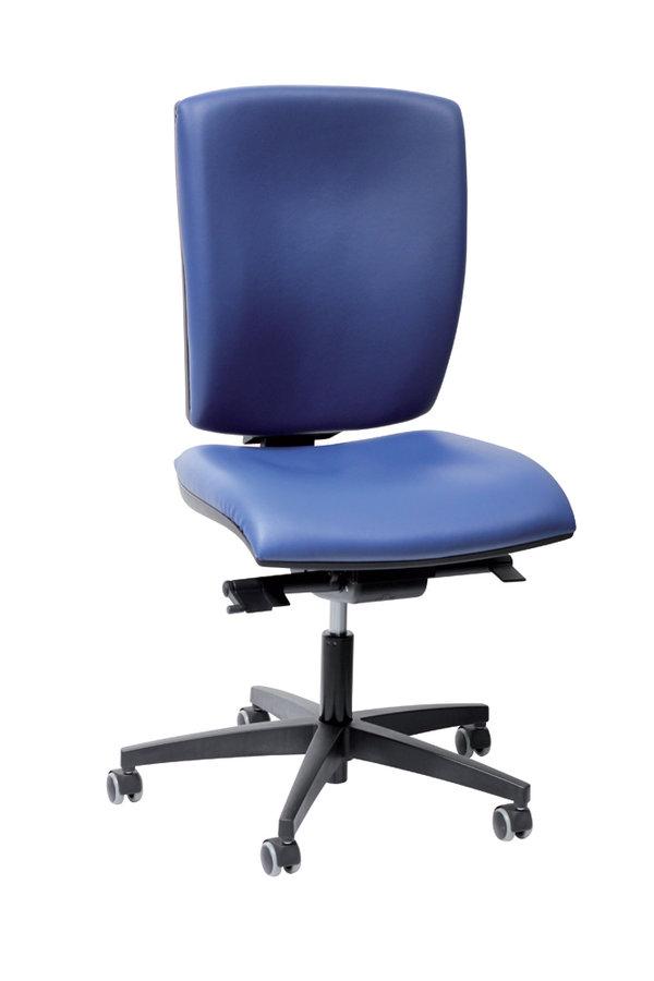 chaise de bureau r va plus textile enduit pi tement noir. Black Bedroom Furniture Sets. Home Design Ideas