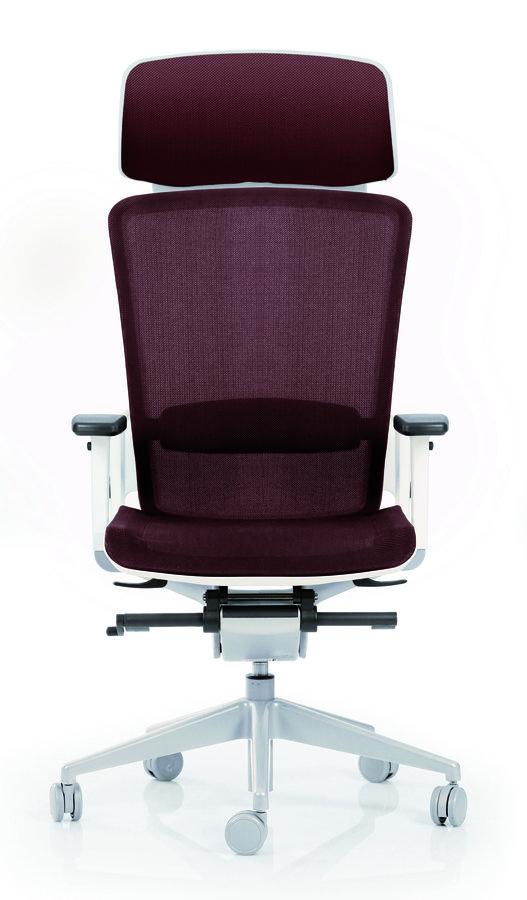 Fauteuil de bureau e6 assise et dossier r sille knit pi tement poxy avec appui t te - Fauteuil de bureau avec appui tete ...