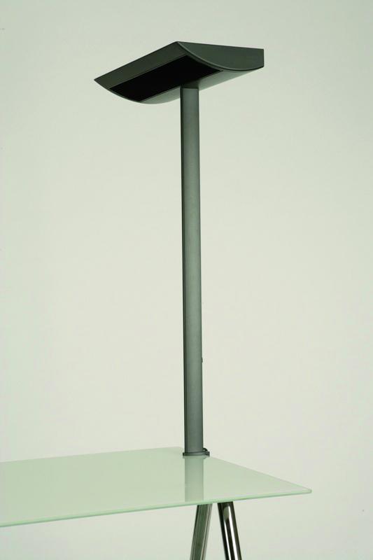 lampadaire fluorescent bemol sur pince gradable 2 tubes 55 w. Black Bedroom Furniture Sets. Home Design Ideas