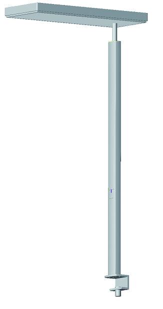 lampadaire fluorescent ludic t te lat rale sur pince gradable 4 tubes 40 w. Black Bedroom Furniture Sets. Home Design Ideas