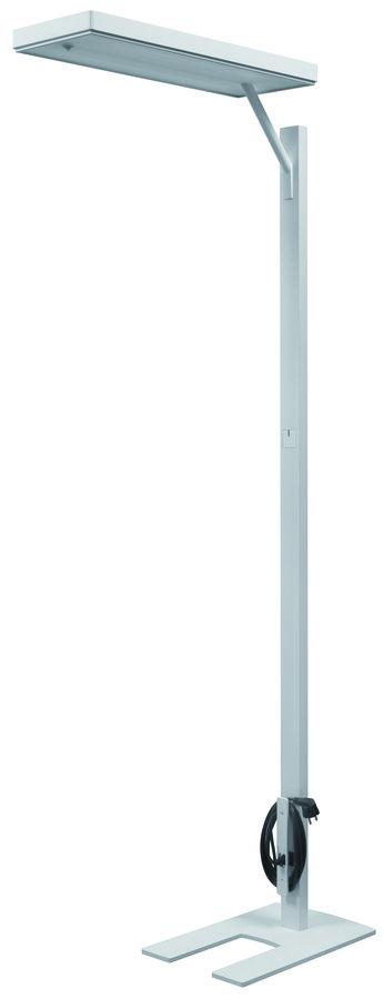 lampadaire fluorescent ludic t te d port e sur pied gradable 2 tubes 40 w. Black Bedroom Furniture Sets. Home Design Ideas
