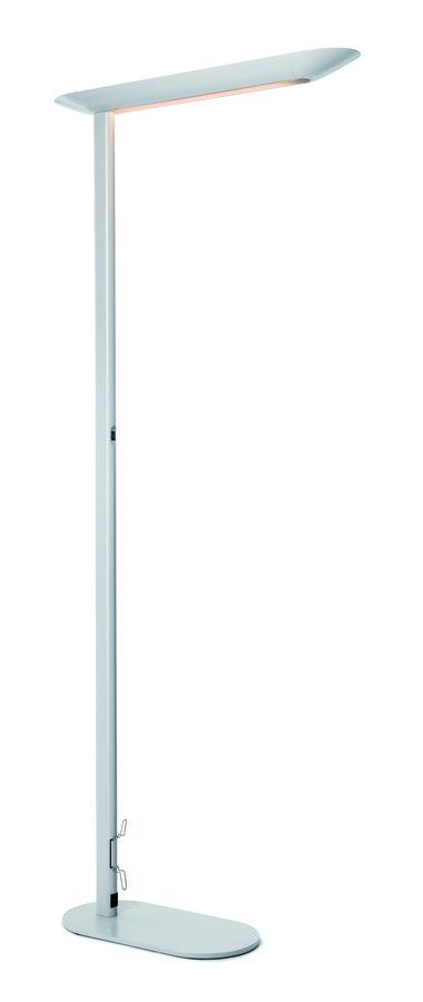 lampadaire fluorescent partaga t te centrale sur pied gradable 1 tube 55 w. Black Bedroom Furniture Sets. Home Design Ideas