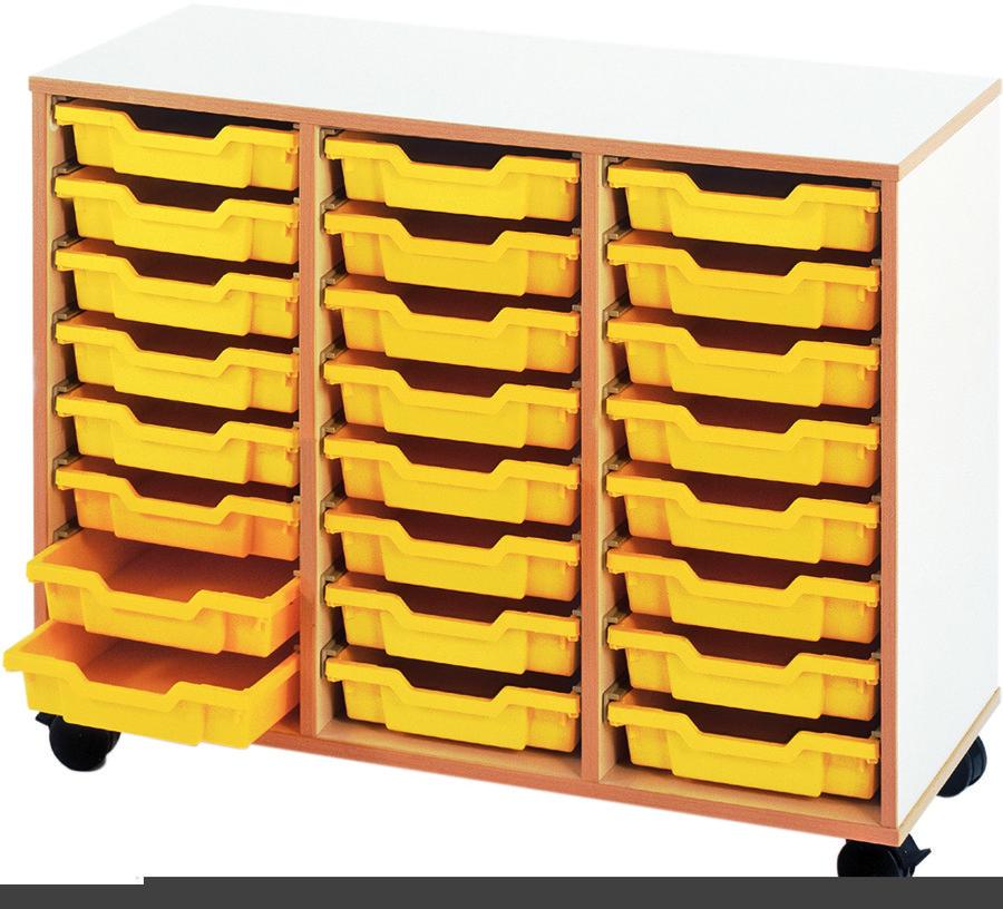 meuble bas mobile 3 colonnes 24 bacs tiroirs. Black Bedroom Furniture Sets. Home Design Ideas