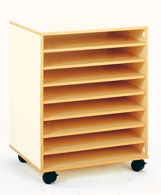 Meuble Bas Mobile Pour Rangement Papier A Dessin 8 Cases