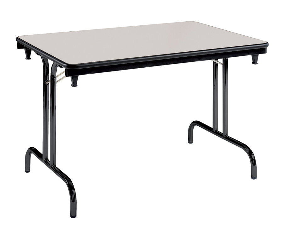 Table pliante dune gris pi tement noir 120 x 80 cm for Pietement de table pliante