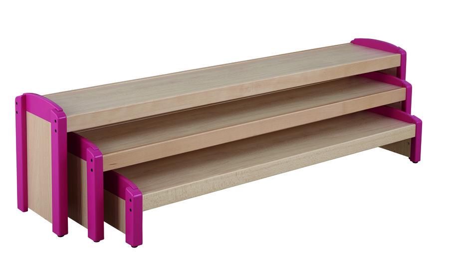 banc gigognes wikicat lot de 3 bancs h d 39 assise 19 8 31 5 43 2 cm. Black Bedroom Furniture Sets. Home Design Ideas