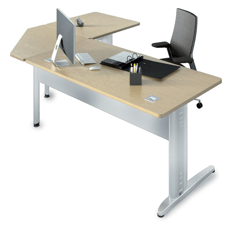 bureau droit corial 160x80 angle 90 retour 80x80. Black Bedroom Furniture Sets. Home Design Ideas