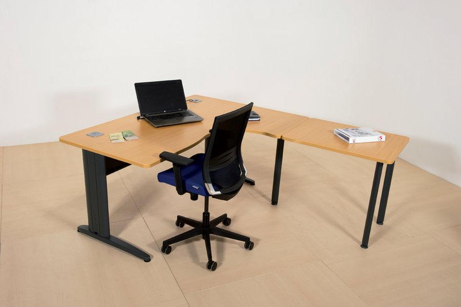 Bureau compact 90 asym trique corial 160x120x80x60 for Bureau 80x60