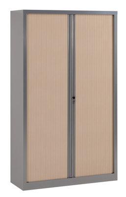 Armoire métallique Corial - 198x120 - 4 tablettes - façade décor ...