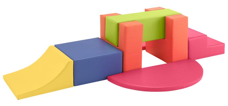 parcours de motricit ondulos 3 1 toboggan 1 escalier 1 poutre 2 socles 1 demi cube 2. Black Bedroom Furniture Sets. Home Design Ideas