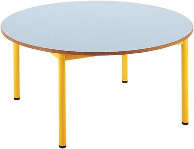 table ronde sam 120 cm 4 pieds t6. Black Bedroom Furniture Sets. Home Design Ideas