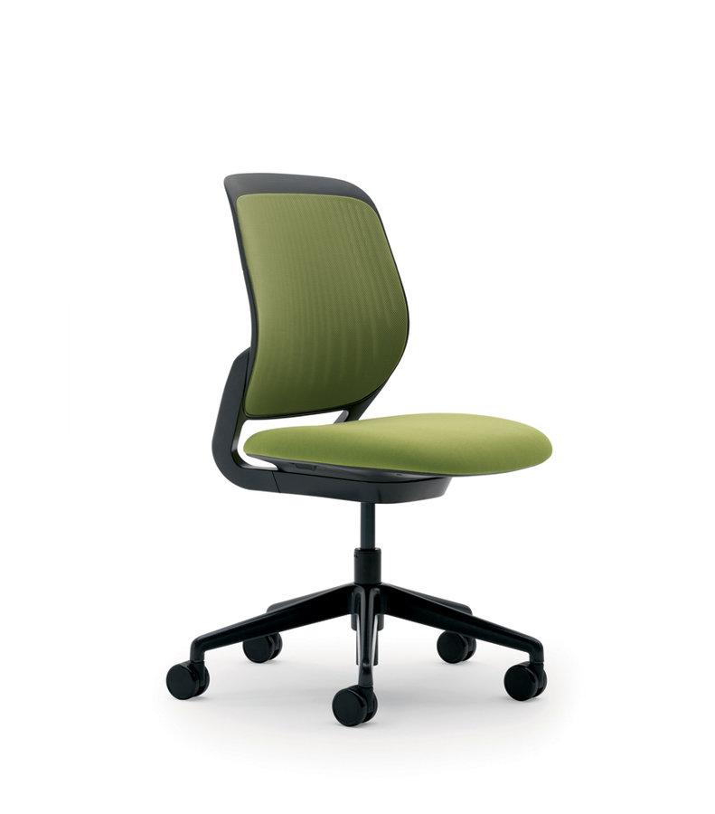 Chaise pivotante cobi structure et pi tement noir for Chaise noire tissu