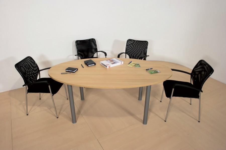 table de r union lliptique 6 places corial 4 pieds. Black Bedroom Furniture Sets. Home Design Ideas