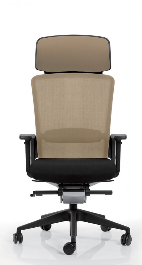 Fauteuil de bureau e8 assise tissu et dossier r sille knit pi tement poxy avec appui t te - Fauteuil de bureau avec appui tete ...
